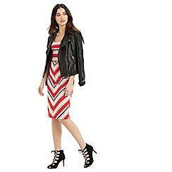 Oasis - Chevron Diamond Stripe Dress