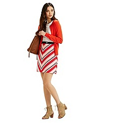 Oasis - Chevron Diamond Stripe Skirt