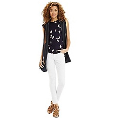 Oasis - Bird print ruffle top