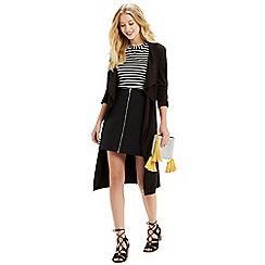 Oasis - Zip front aline skirt