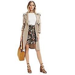 Oasis - Palm belted aline skirt
