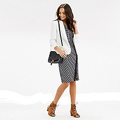 Oasis - Stripe wrap pencil dress