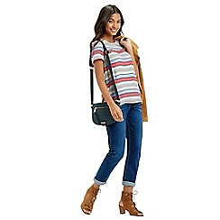 Oasis - Laced back viscose stripe tee