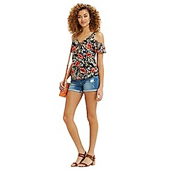 Oasis - Waikiki print cold shoulder to