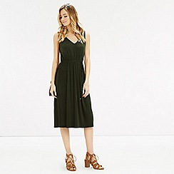 Oasis - Pleated v midi dress