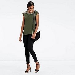 Oasis - Embellished Neck T-Shirt