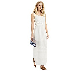 Oasis - Lace hem cheesecloth maxi