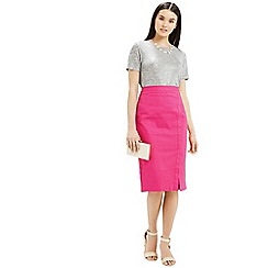 Oasis - Textured wrap pencil skirt