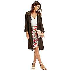 Oasis - Topical drape front skirt