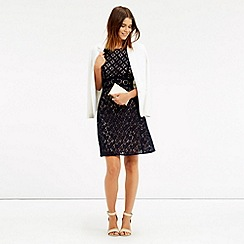 Oasis - Patched lace skater dress