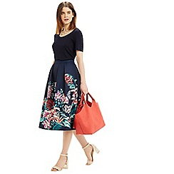 Oasis - Tropical jacquard midi skirt