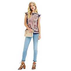 Oasis - Paisley placement shell top