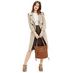 Oasis - Zip front aline midi skirt