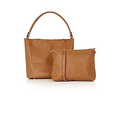 Oasis - Double Pocket Zip Hobo Bag