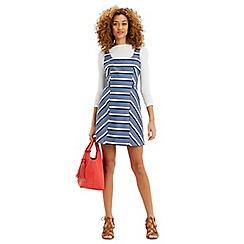 Oasis - Stripe Pinafore Dress