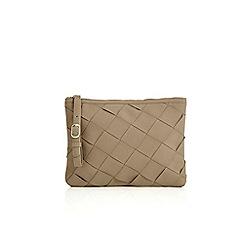 Oasis - Big weave zip top clutch