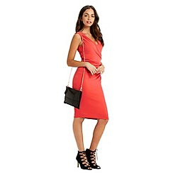 Oasis - Rouched V Neck Dress