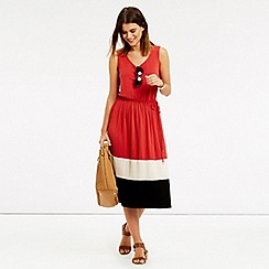 Oasis - Colourblock scoop pleat midi