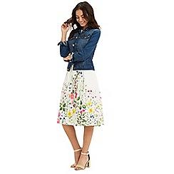 Oasis - Chelsea print midi skirt