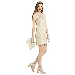 Oasis - Metallic lace shift dress