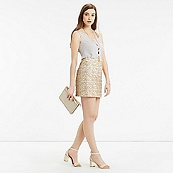 Oasis - Metallic lace mini skirt