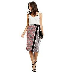 Oasis - Sintra Tile Wrap Pencil Skirt