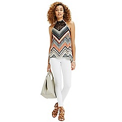 Oasis - Chevron stripe wrap vest