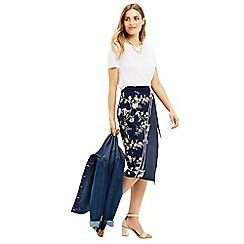 Oasis - Sashiko Wrap Pencil Skirt