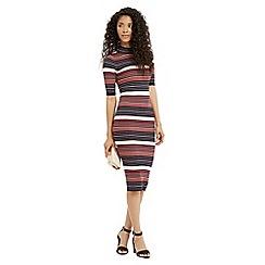 Oasis - Stripe Lurex Tube Dress