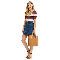Oasis - Sparkle Stripe Knit Top