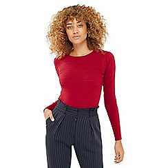 Oasis - Rib Pointelle Bow Back Knit