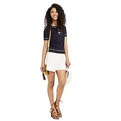 Oasis - Cute tipped SS knit