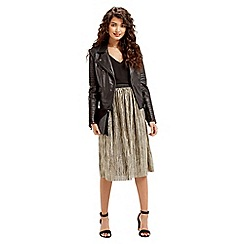 Oasis - Metallic Plisse Skirt