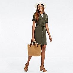 Oasis - Textured Shirt Dress
