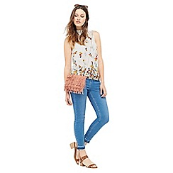 Oasis - Border Floral High Neck Shell