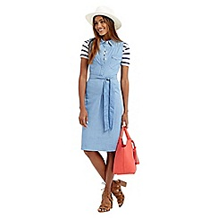 Oasis - Chambray high neck dress