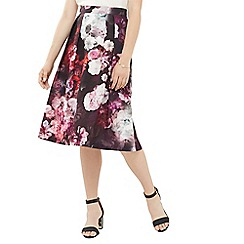 Oasis - Winter Floral Midi Skirt
