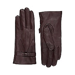 Oasis - Leather bow gloves