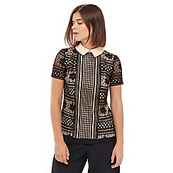 Oasis - Collared Lace Tee