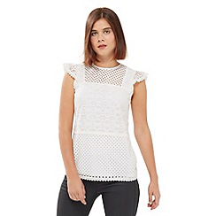 Oasis - Patched Lace Top