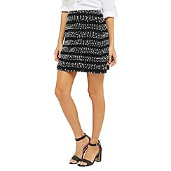 Oasis - Stripe Popcorn Mini Skirt