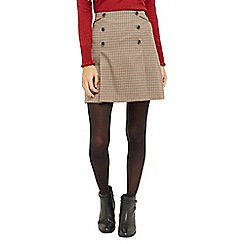 Oasis - Check Pleated Skirt