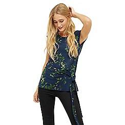 Oasis - Floral Vine Wrap Top