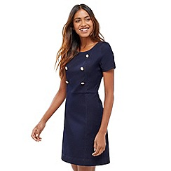 Oasis - Button denim shift dress