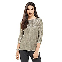Oasis - Pleated Foil Slouch Top