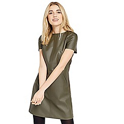Oasis - Faux leather shift dress