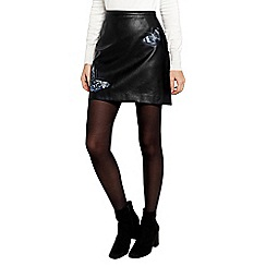Oasis - Forest Faux Leather Skirt