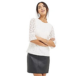 Oasis - Kick Sleeve Patched Lace Top