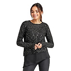Oasis - Asymmetric sequin sweater