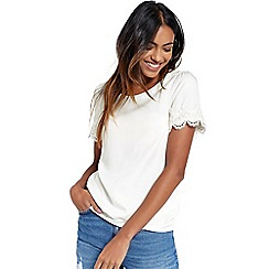 Oasis - Lace trim viscose tshirt
